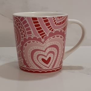 STARBUCKS LACE HEART COFFEE MUG